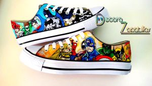 DC vs Marvel Shoes by Raw-J