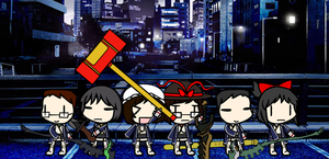 [WALFAS] Melee Weapons + SMTIV Samurai Outfits by Eddsworldftw11