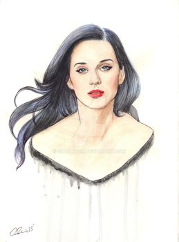 Katy Perry Watercolor Illustration