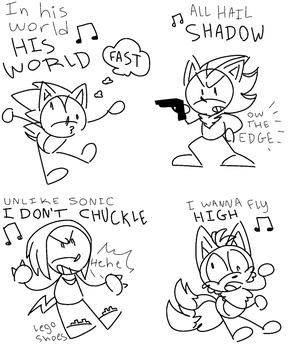 A series of dumb song doodles by Scourgey-ouo