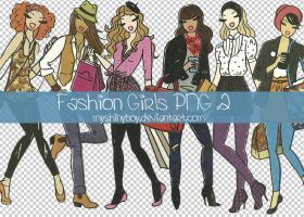 Fashion Girls PNG .2 by MyShinyBoy
