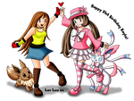 Lou and Kayla Pokemon Trainers by louisalulu