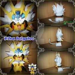 Pokemon Papercraft~Pika Solgaleo~ by saibros