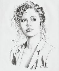 Portrait of Charlize Theron by prinsepolo