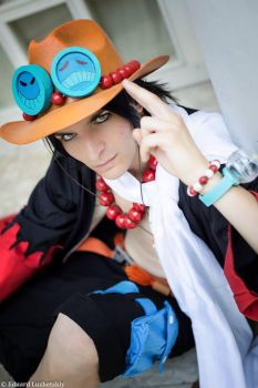 Ace Alabasta One Piece Cosplay (i'm back) by RedAceCosplay