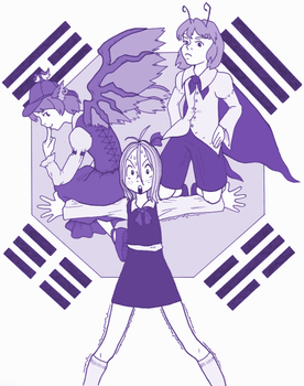 Touhou AGHD - Three Stooges by fawriel