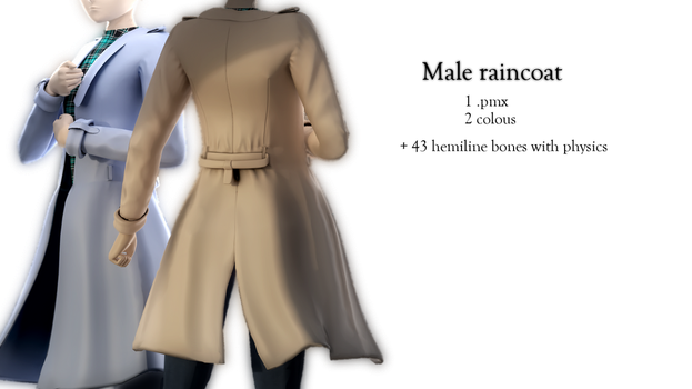Male Raincoat DL by Stylc