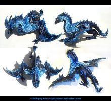 Midnight Dragon Sculpture by yuumei