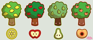 Fruit Trees by Jade-Xe