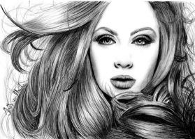 Adele better Quality Drawing by Irishaaa