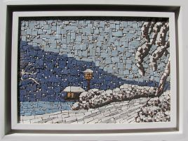 Ceramic Mosaic winter landscape by Radan22