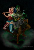 Steampunk Harley Quinn and Joker. Suicide Squad by scritta1