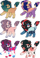 lil lion adopts | 1/6 OPEN | OTA (lowered) by flvffy
