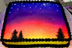 Sunset Cake by Christa-S-Nelson