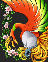 +Ho-Oh drawn by PikaChoupi, lined n colored by me+ by Shadowa-93