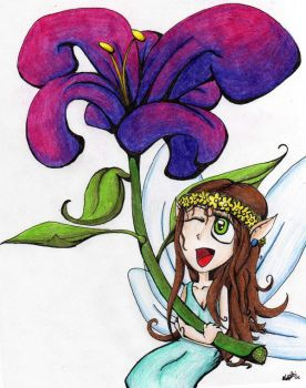 Flower Fairy by luckytragedy