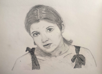 Carrie Fisher portrait by UnbridledMuse