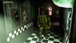 No More Mr. Nice Guy (Springtrap SFM Wallpaper) by gold94chica