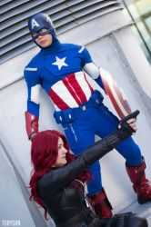 Captain America and Black Widow Cosplay III of III by idrilkeeps