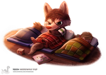 Daily Painting 1690# Werewolf Pup by Cryptid-Creations