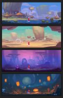 AUM: locations concept by ArdenRey