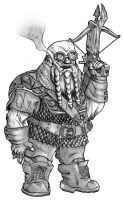 Kolmec Ironcast, Dwarven Rogue-Wizard by lordmagnusen