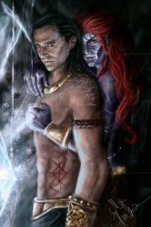 Loki and Angrboda... by mappeli