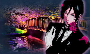 Black Butler With A Rose by RossLana