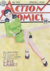 The Comics First Damsel in Distress by osvaldogreco
