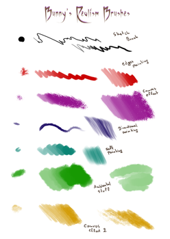 Bunny's Realism Brushes by Moony-Bunny
