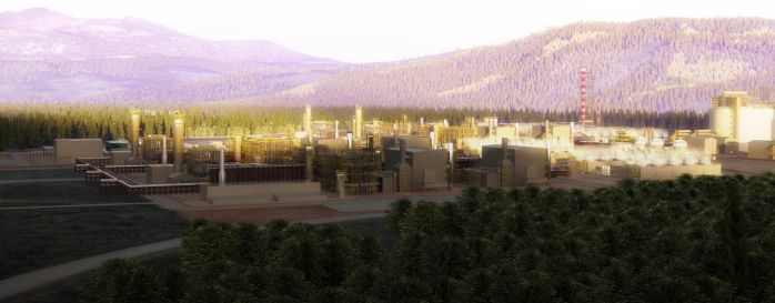 LNG Site Previsualization in Kitimat by Evexoian