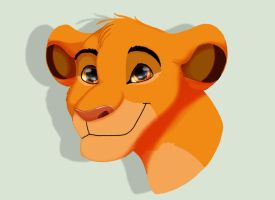Simba headshot by salem20