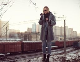 Sasha near railways by psychiatrique