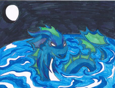 Water Dragon by theMidnghtWolfStar
