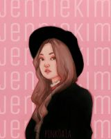 Blackpink Jennie Kim Fanart by pink0a1a