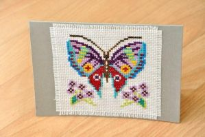 Butterfly Card by VickitoriaEmbroidery