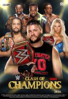 WWE Clash of Champions 2016 Poster by Chirantha