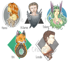 The Watch - Faces Gallery / First characters by Rena-Circa