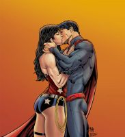 Superman And Wonder Woman by mastr240