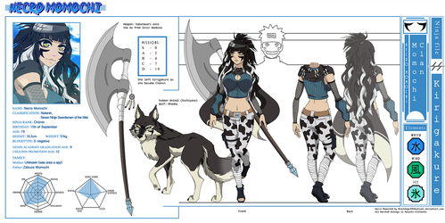 Naruto OC Necro Momochi Reference Sheet by Shirogahara