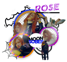 ROSE//BLACKPINK(PLAYING WITH FIRE)-PNGPACK#1 by MoonSober
