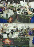 Lillys Art table at Youmacon 2012 by lilly-peacecraft