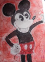 Mickey (chalk pastel) by westhemime