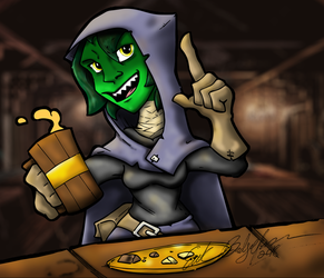 Critical Role Fanart of Nott the Goblin by Baron-Nutsnboltz