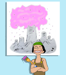 Usopp is Happy with His Painting of Drum Island by BigJaa