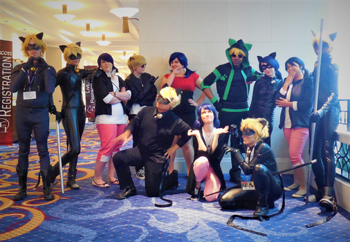 Cat Noir and Marinette Group Shot by R-Legend