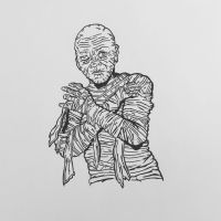 Inktober 2016, Day 7 - The Mummy by EricAndersonCreative