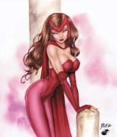 Deacon Black's Scarlet Witch - Colors by TracyWong