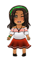 [HETAOC] Chibi Colombia (updated look) by melondramatics
