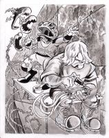 Ink wash commission by TCBaldwin